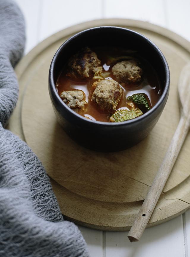 Sausage and Chunky Vegetable Soup